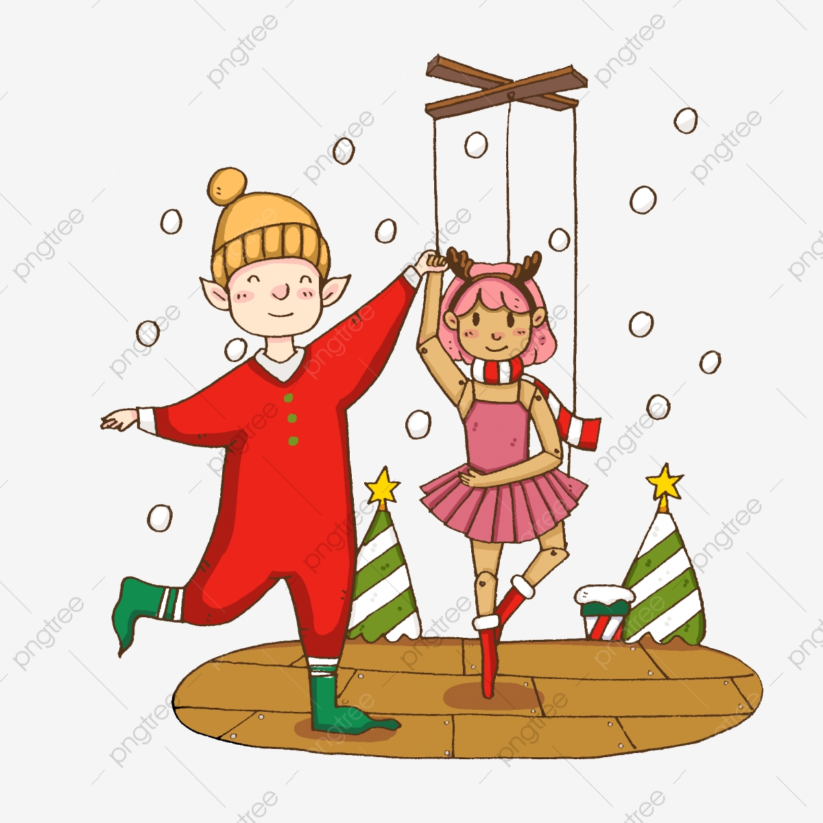 Festival Merry Christmas Joy Dancing Waltz Celebrate Christmas Holiday Illustration Png Transparent Clipart Image And Psd File For Free Download