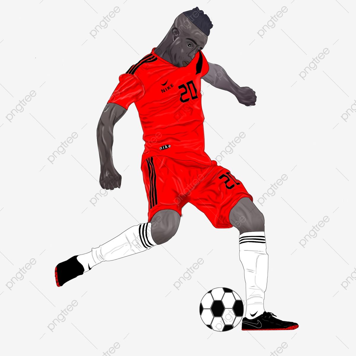 Football Beau Et Plein De Costume De Balle Rouge Positif