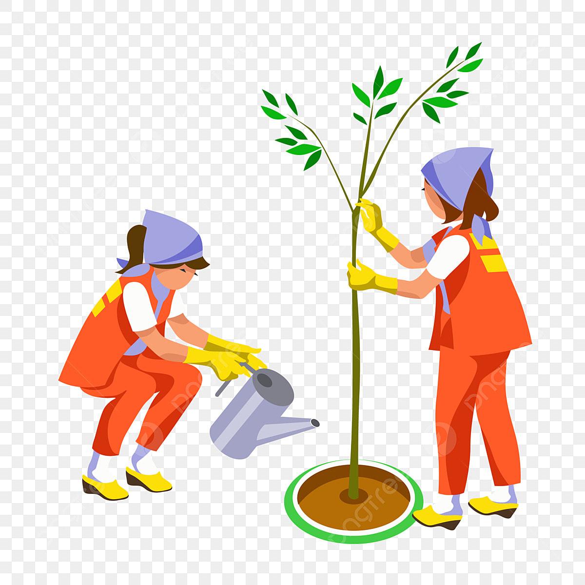 Garden Garden Worker Worker Cartoon, Cartoon Worker, Cartoon