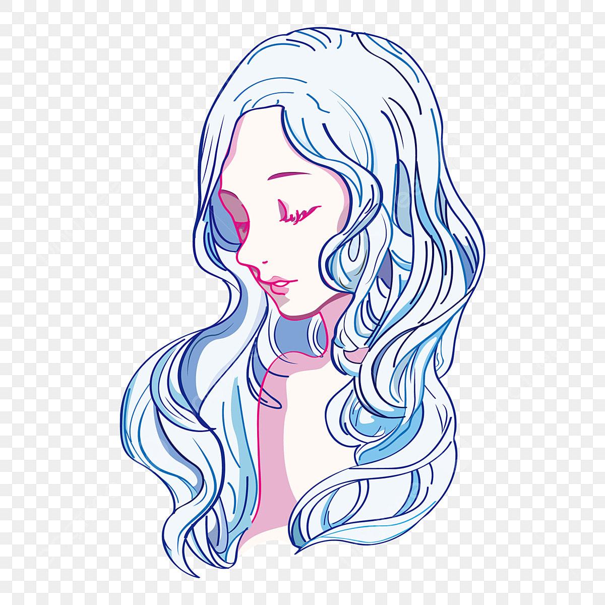 Serie Nina Hermosa Nina Ojos Cerrados Ilustracion Pintado A Mano Anime Png Y Vector Para Descargar Gratis Pngtree