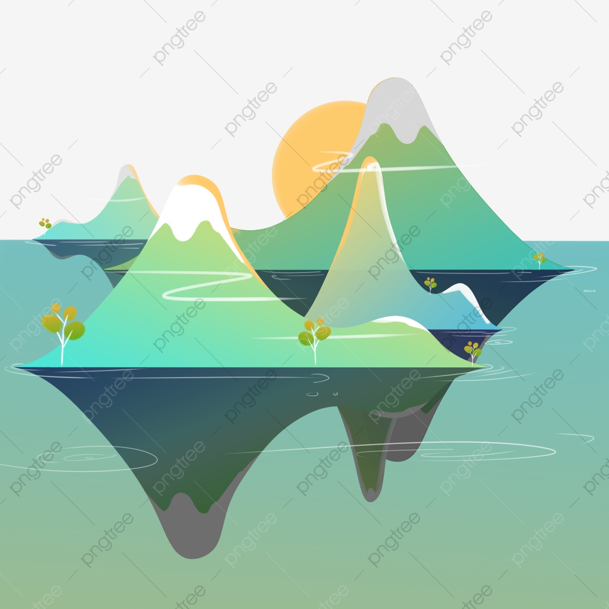 Sun With Water Wave Icon Vector Stock Vector - Illustration of abstract,  sign: 118770777