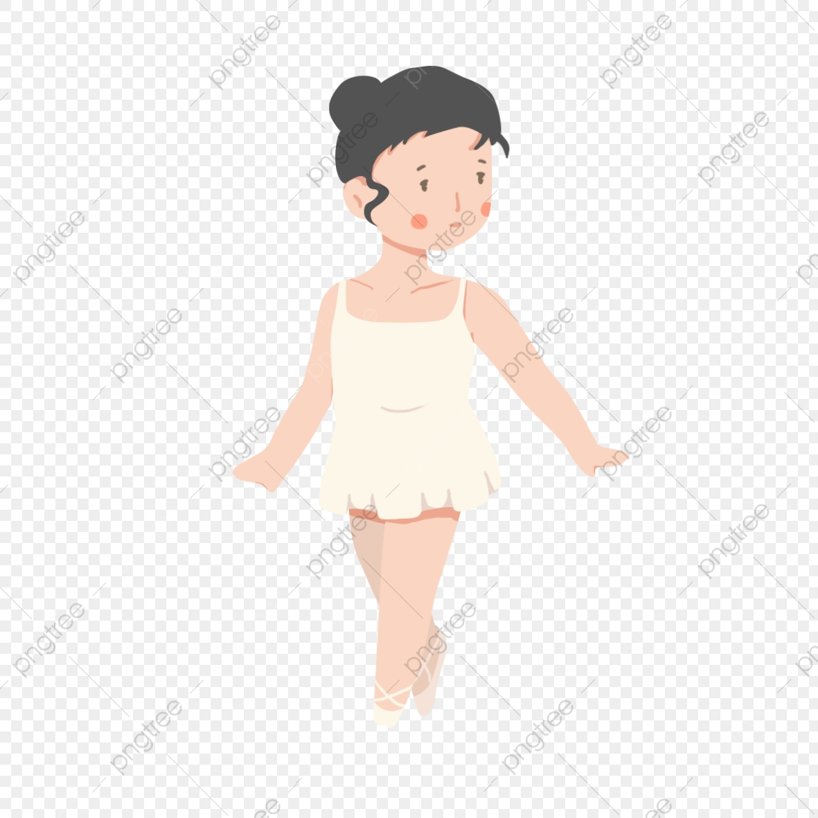 Hand Drawn Cartoon Learning Dance Lessons White Ballet Skirt Cartoon Character Dancing And Dancing Go On Stage Elegant Png Transparent Clipart Image And Psd File For Free Download