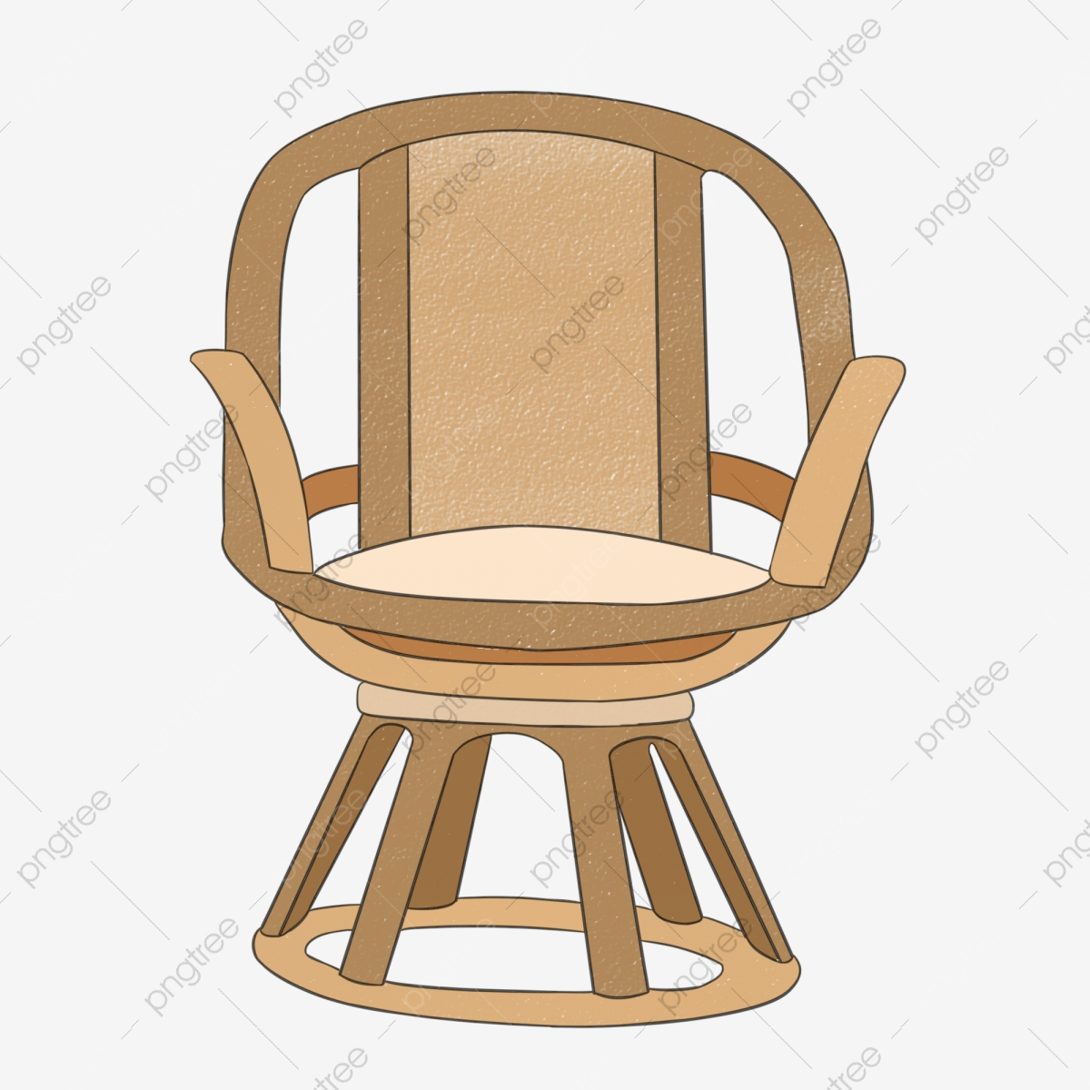 Hand Painted Chair Beautiful Chair Swivel Chair Illustration