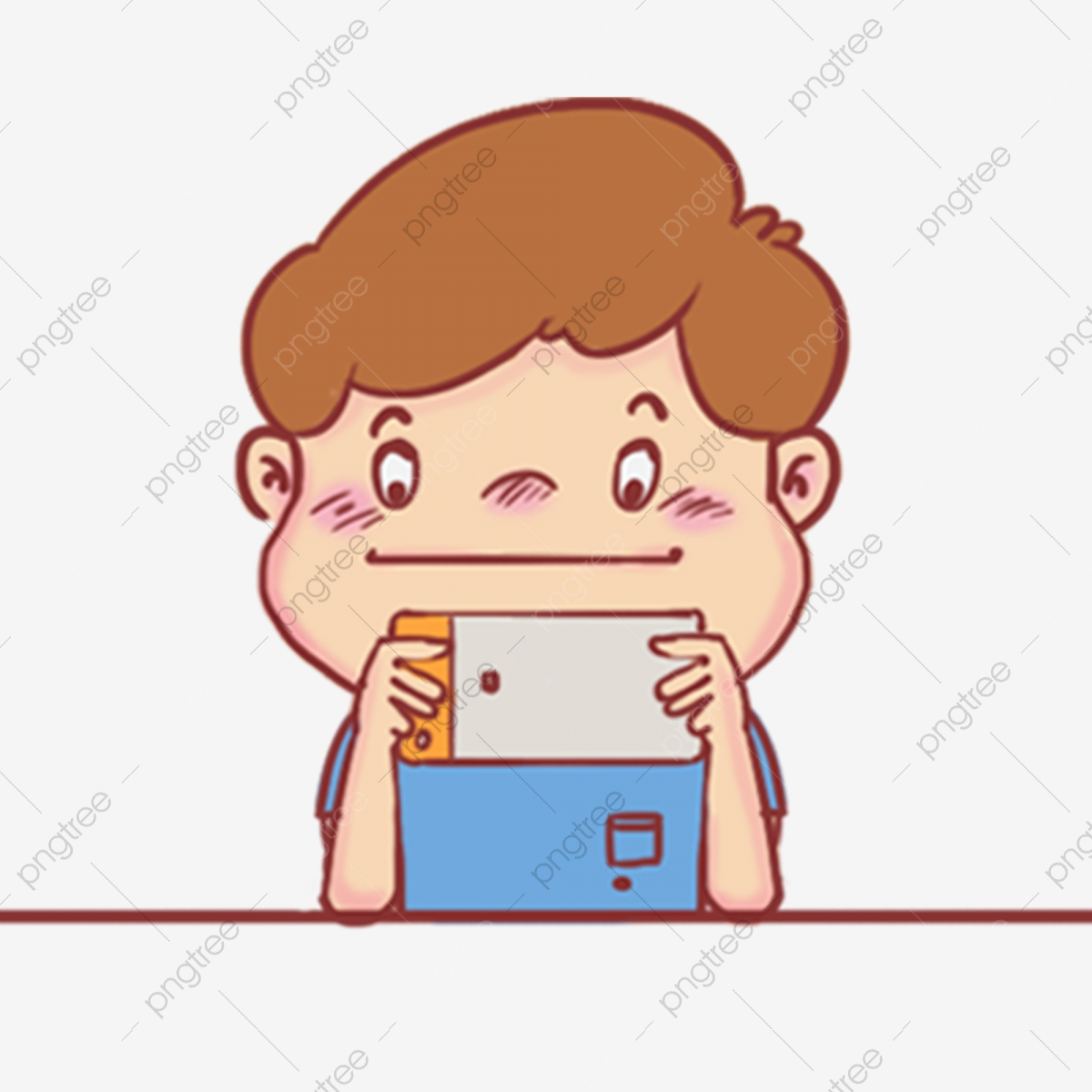 Hand Painted Children Children Playing Mobile Games Mobile Game Self Timer Video Video Chat With Family Communicate With Hand Painted Children Png Transparent Clipart Image And Psd File For Free Download