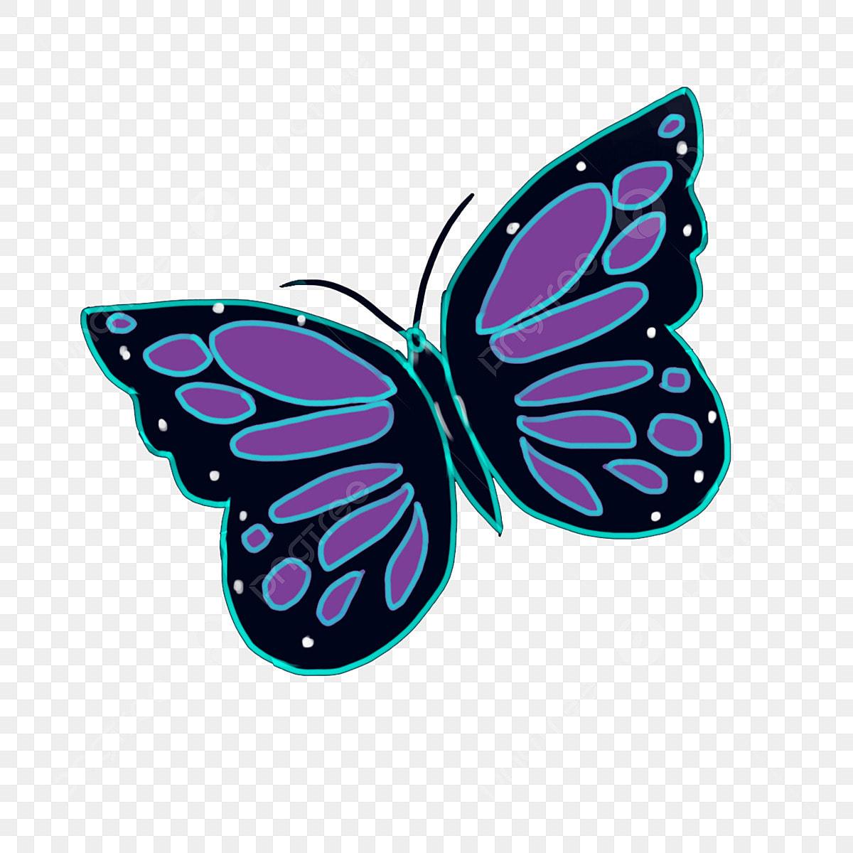 Dibujado A Mano Colorear Mariposa Dibujos Animados Dibujado