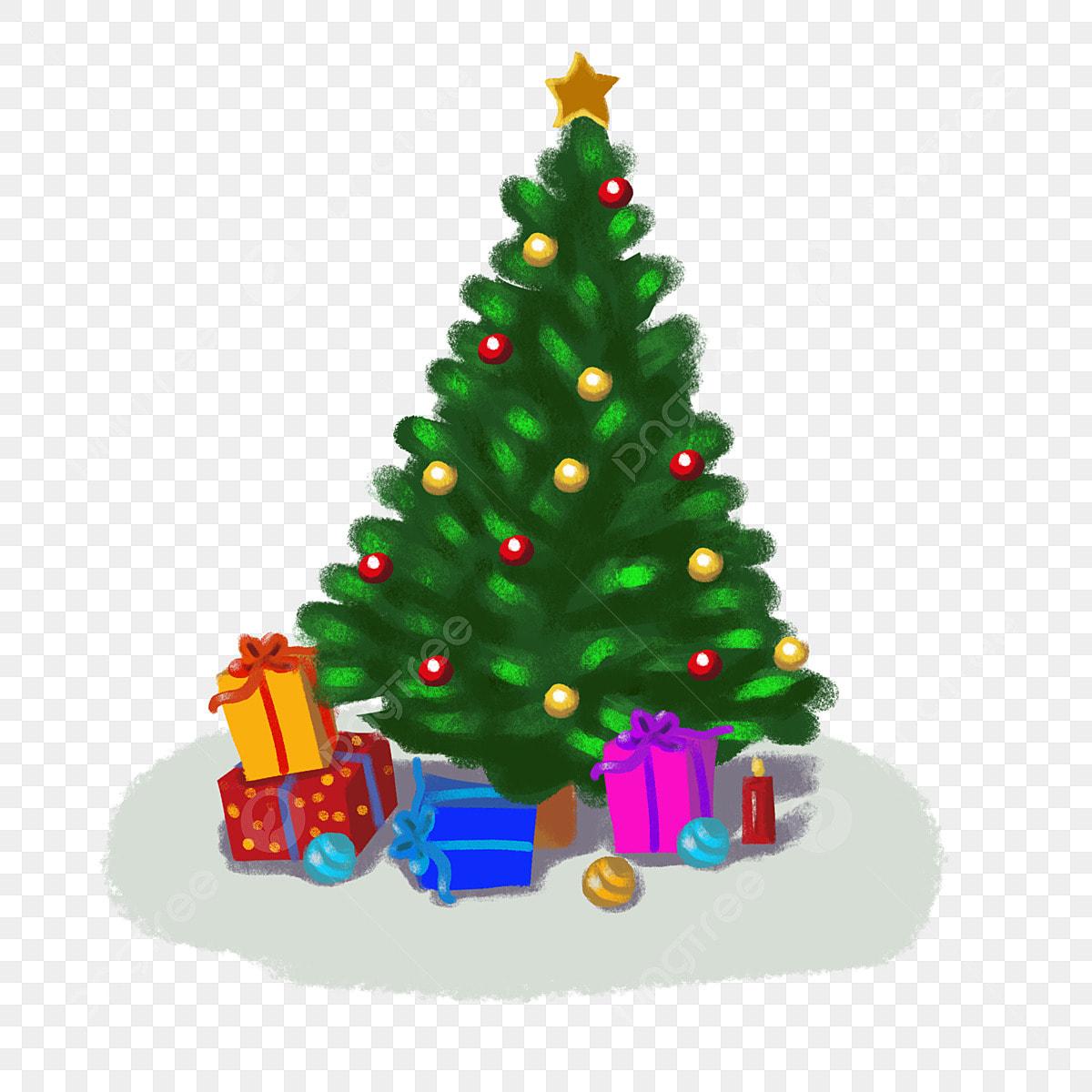 Dessiné à La Main Couleur Arbre De Noel Dessin Animé, Noël, Sapin