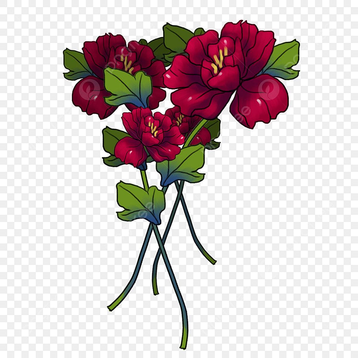 Dessiné à La Main Couleur Fleur Dessin Animé Illustration