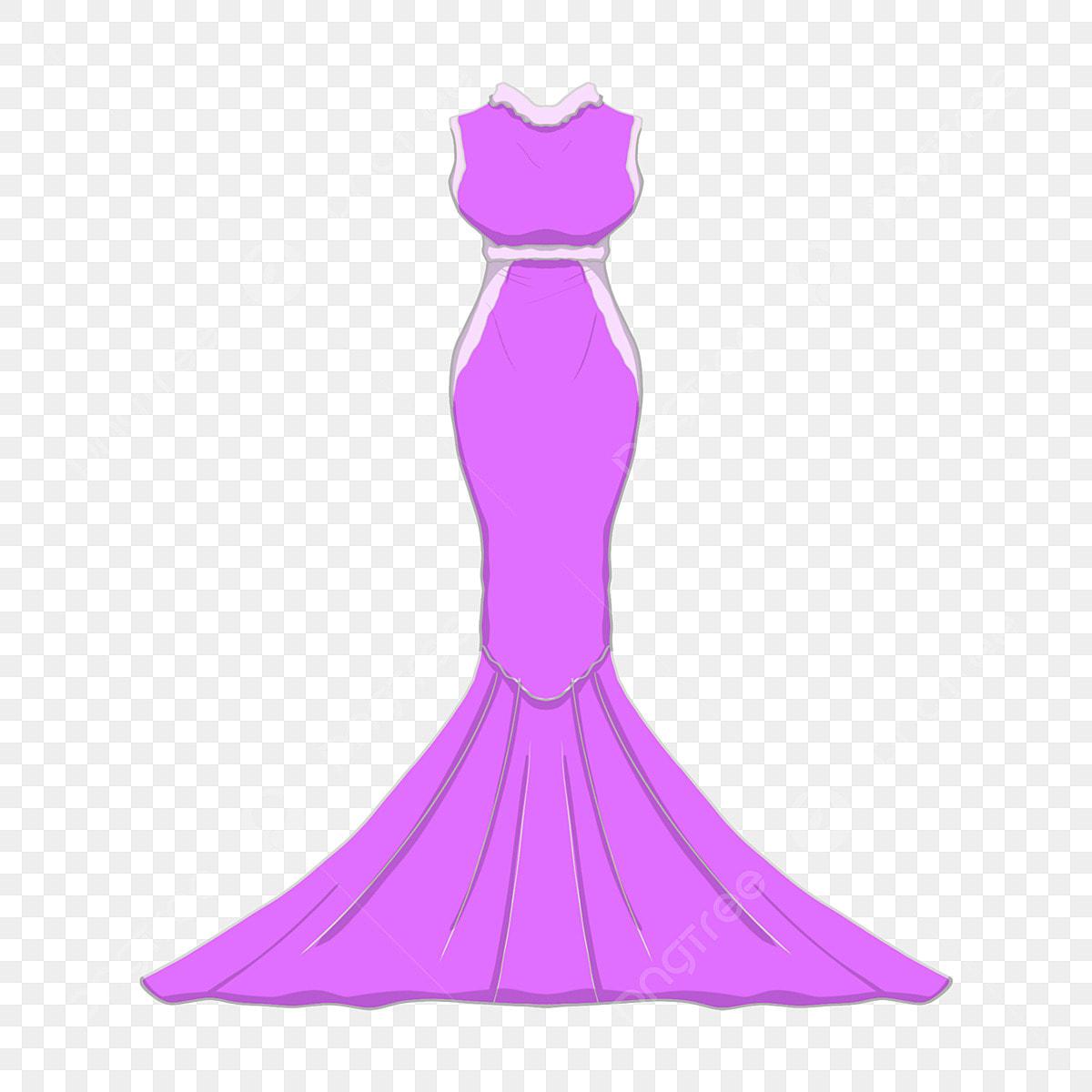 Vestido Pintado A Mano Vestido Morado Vestido De Noche
