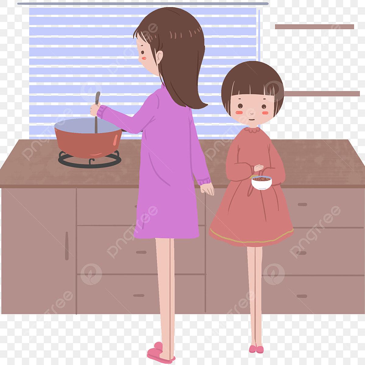 Gambar Pesta Laba Selamat Bercuti Gadis Kecil Makan Bubur Panas Laba Ibu Membuat Bubur Laba Di Dapur Selamat Bercuti Kepada Gadis Kecil Makan Bubur Panas Laba Png Dan Psd Untuk Muat Turun