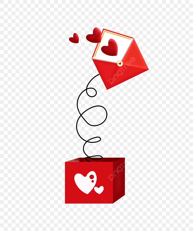 Peti Mel Dengan Huruf Surat Merah Menggambarkan Ilustrasi