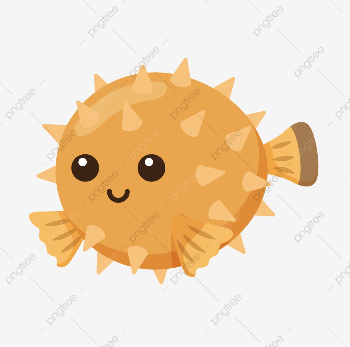 Meng Meng Sprouting Cartoon Cartoon Fish Lovely Cute Fish Cartoon Clownfish Png And Vector With Transparent Background For Free Download