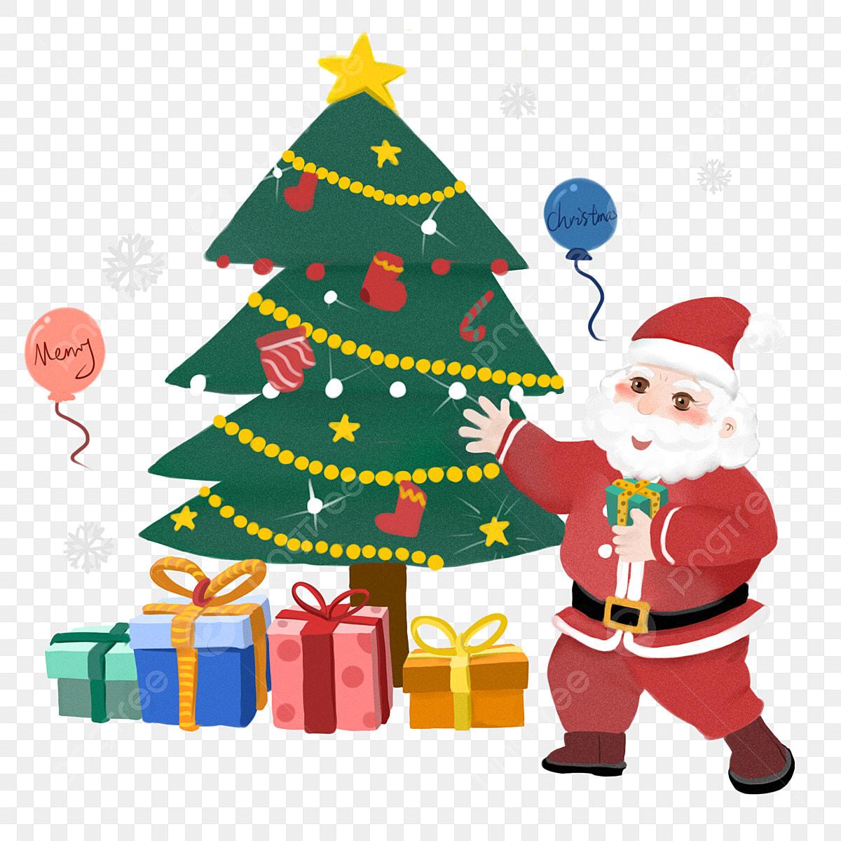 Merry Christmas Colorful Colorful Balloons Gift Christmas Tree