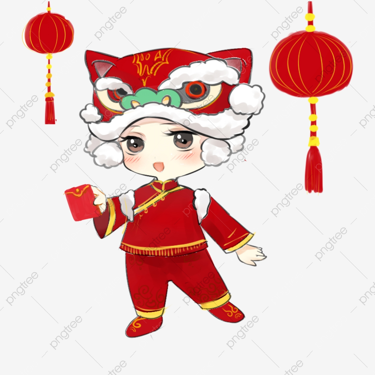 new year light knot hand drawn cartoon kids tiger head cap exorcism red envelope china red png transparent clipart image and psd file for free download https pngtree com freepng new year light knot hand drawn cartoon kids tiger head cap 3956480 html