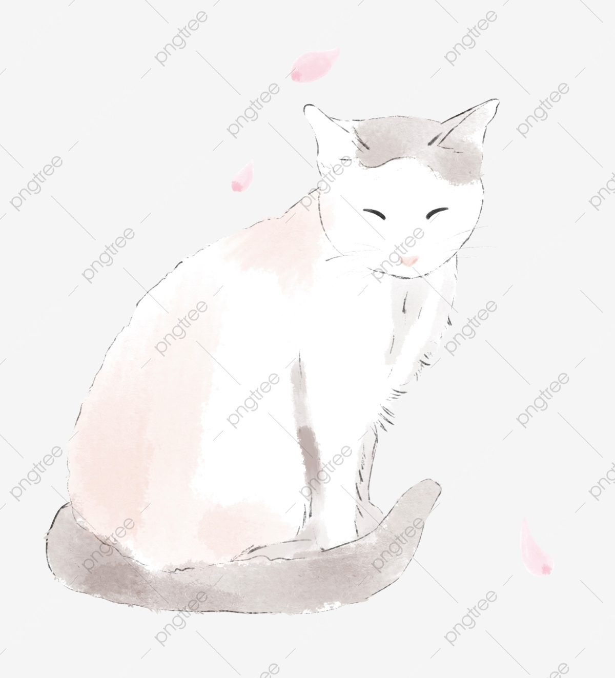 Phone Wallpaper Cat Warm Color Light Color Petal Pink Cute Cat Png Transparent Clipart Image And Psd File For Free Download