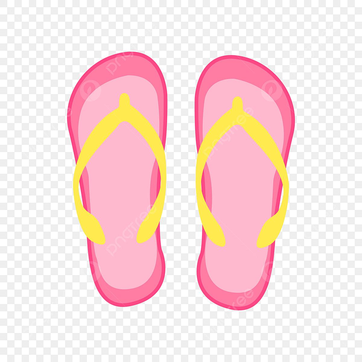 6eb256218f Zapatillas rosas Dibujado a mano flip flops ilustración Sandalias rosas  Zapatillas de verano Gratis PNG y Vector