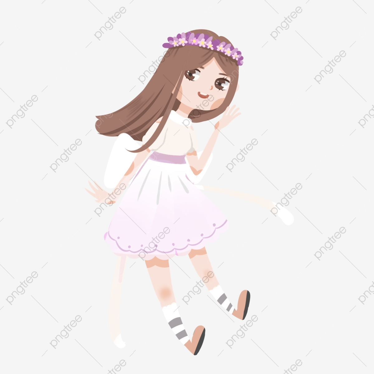 Pretty Girl Flower Fairy Girl Princess Dress Cute Girl