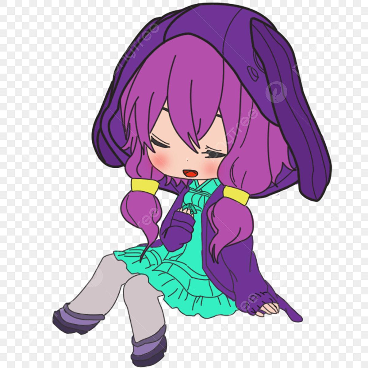 Q Menina Da Versão Fofa Menina Dos Desenhos Animados Anime Girl Menina,  Comic, Animados, Dos Imagem PNG e PSD Para Download Gratuito