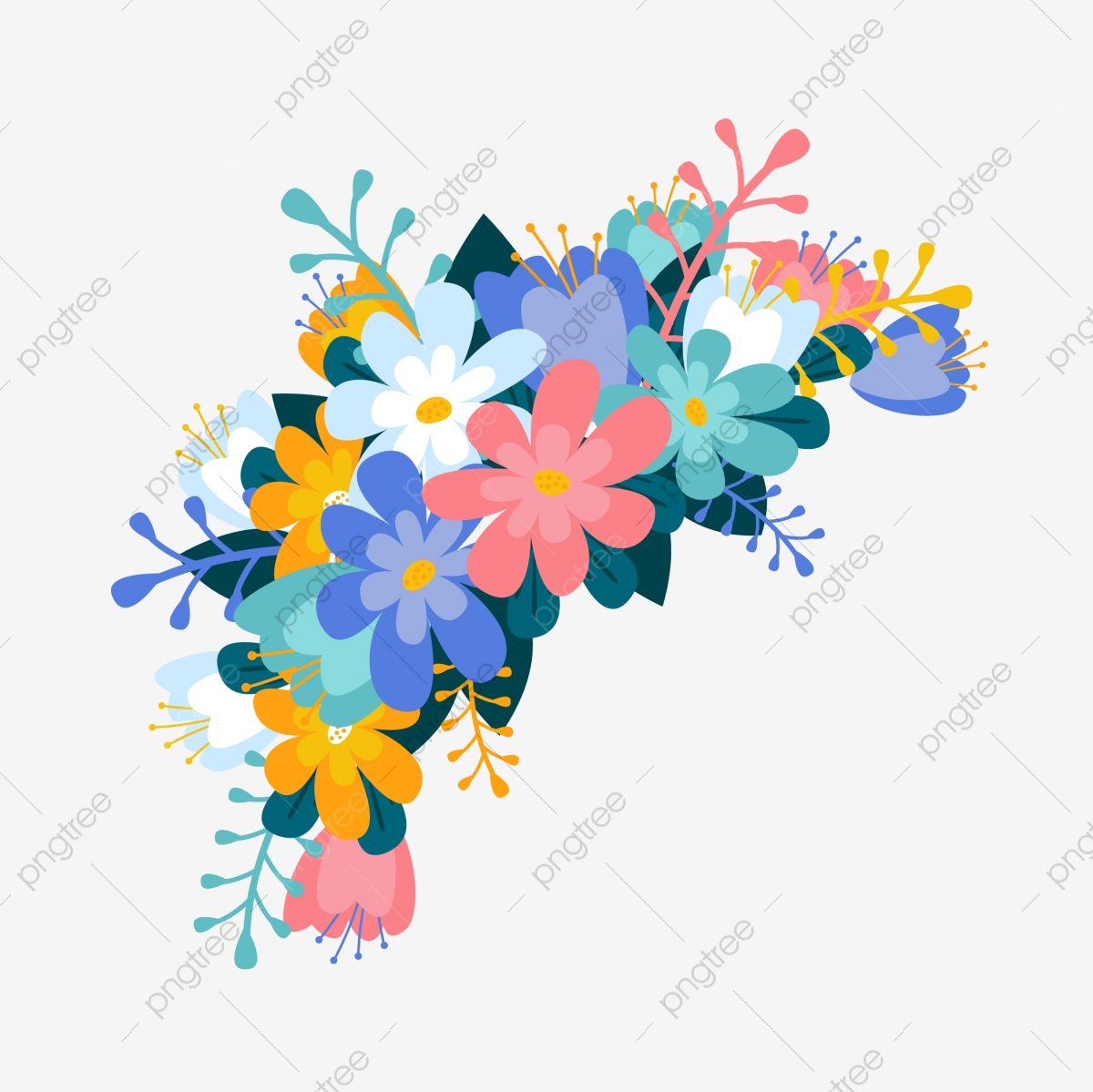 Romantic Romantic Flower Flower Flower Decoration Decorative Flower Decoration Vector Wildflower Png And Vector With Transparent Background For Free Download