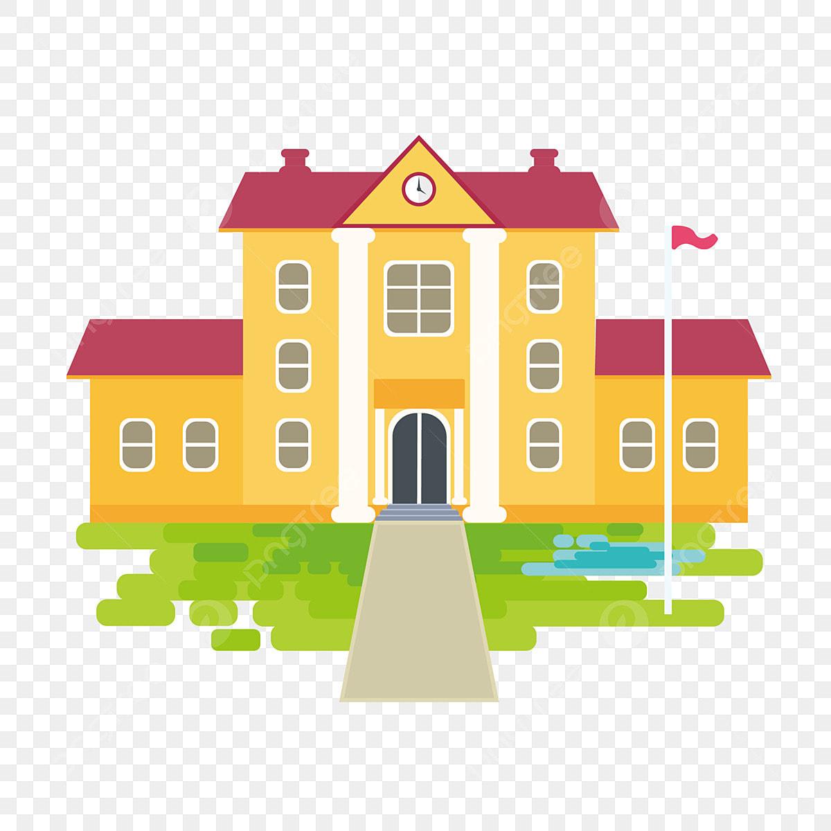 640 Gambar Rumah Sekolah Kartun HD Terbaru Gambar