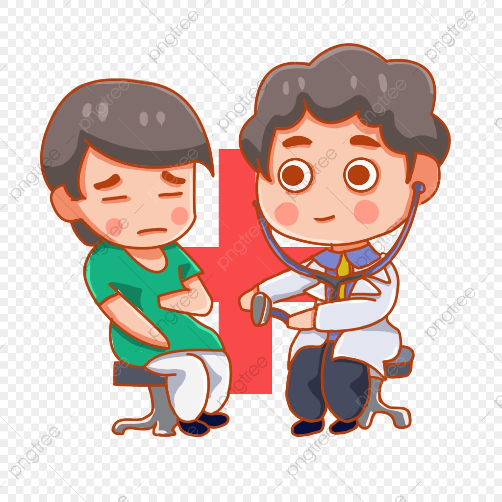 Sick See A Doctor Patient Pain Community Helpers Clipart Hospital Doctors Png Transparent Clipart Image And Psd File For Free Download