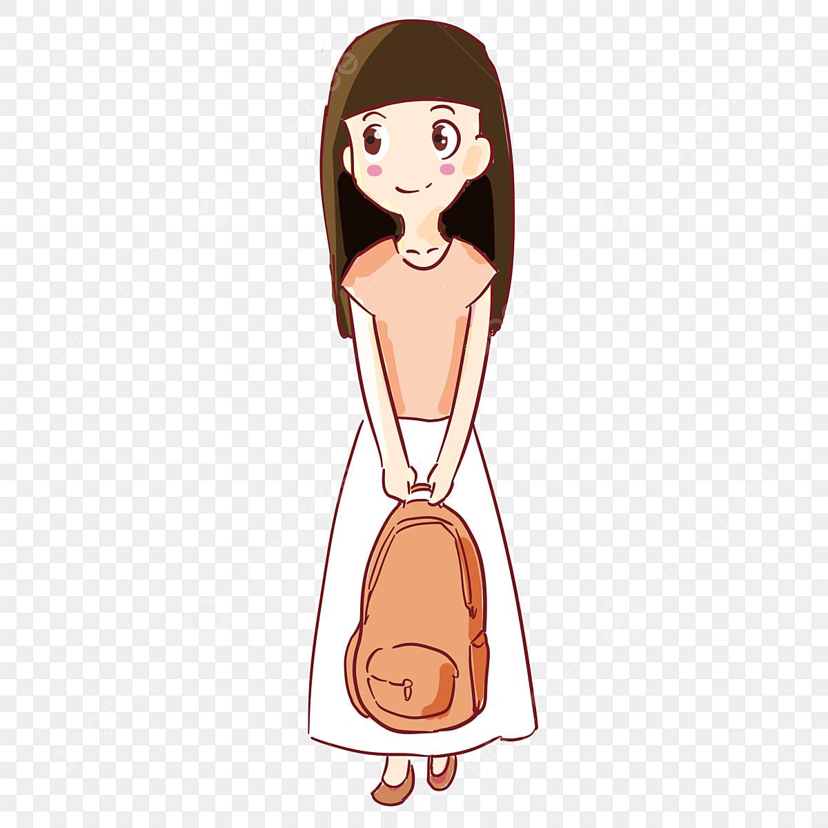 Personnage De Dessin Animé Simple Style Comique Jolie Fille