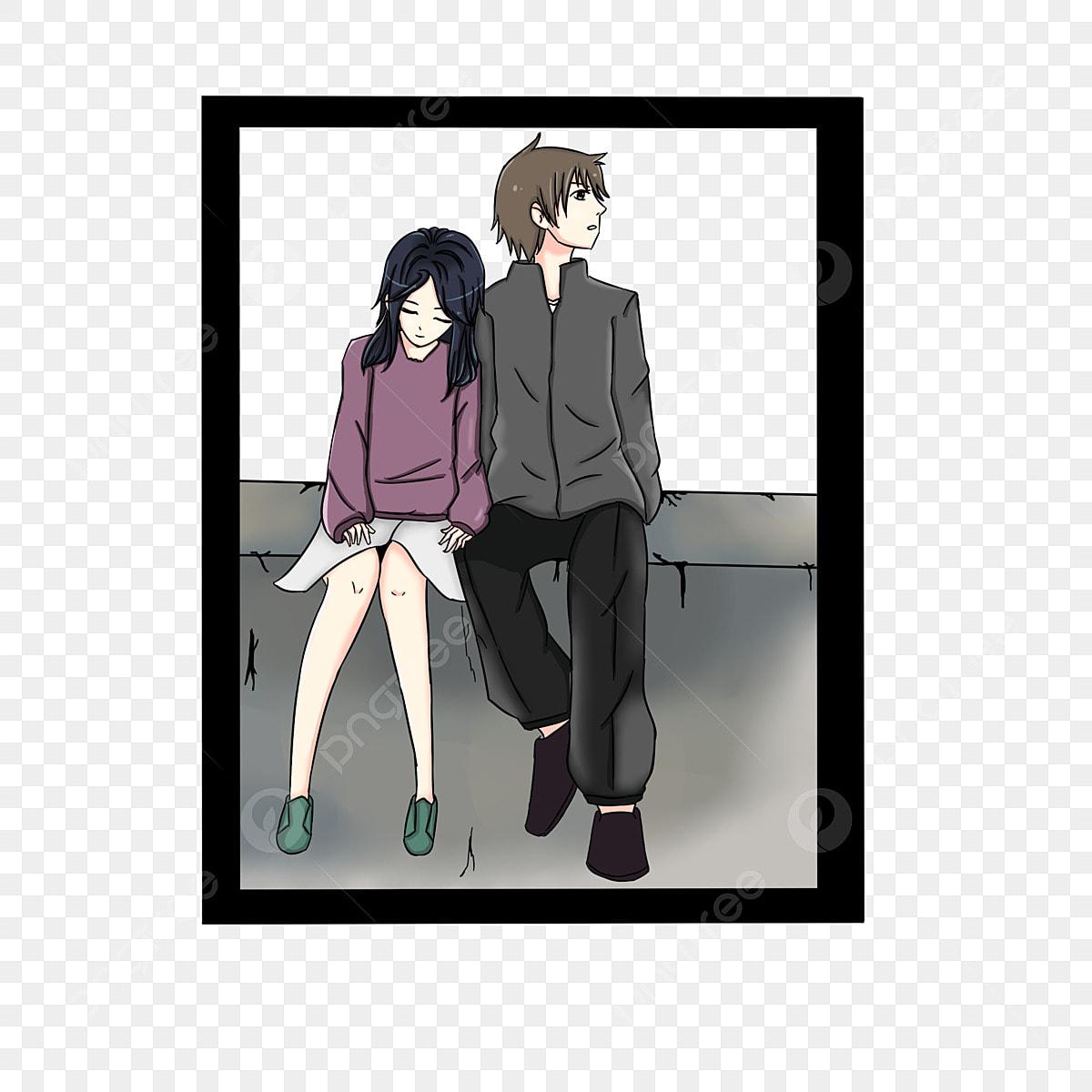 Romantis Gambar Kartun Couple Hitam Putih