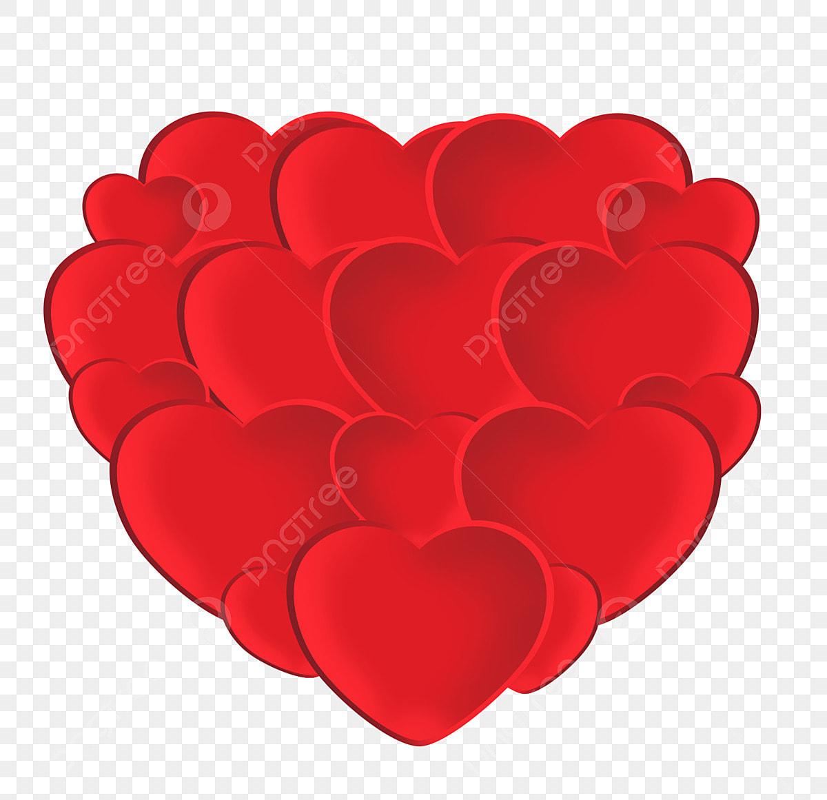 الحب عيد الحب التوضيح حب كبير أحمر قلب كبير مؤلف من قلوب حمراء وسام عيد الحب قلب كبير مؤلف من قلوب حمراء رومانسي فالنتين Png وملف Psd للتحميل مجانا