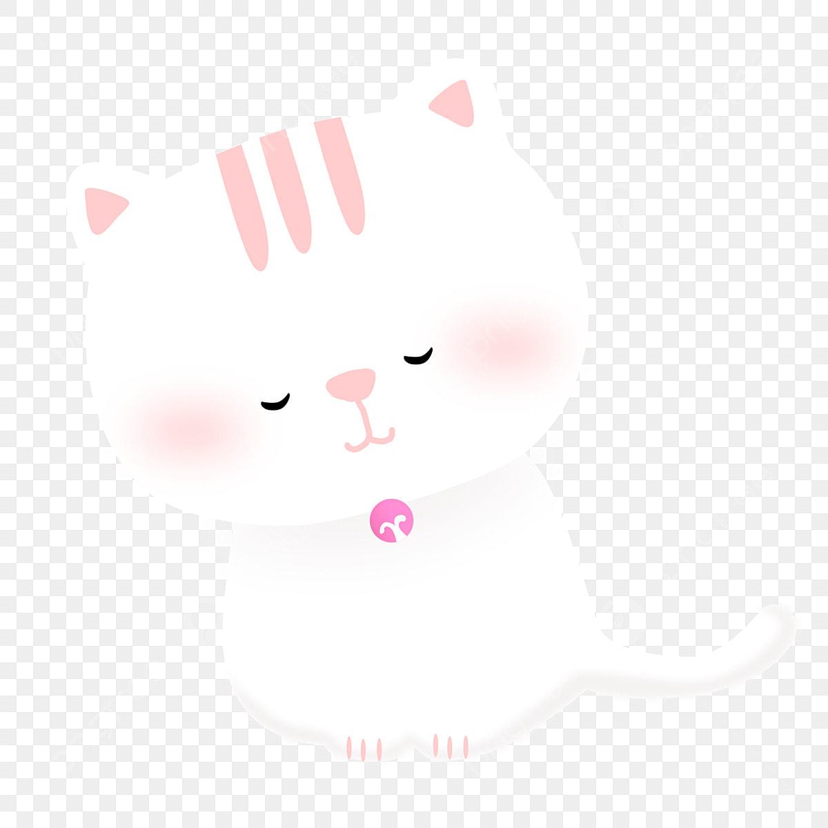 Blanc Arc Mignon Chaton Animal Chaton Blancs Fichier Png