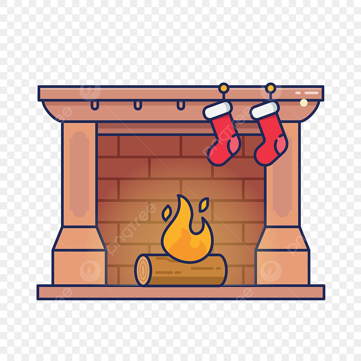 Dibujos Chimeneas De Navidad.Invierno E Invierno Chimenea Occidental Calcetin De Navidad