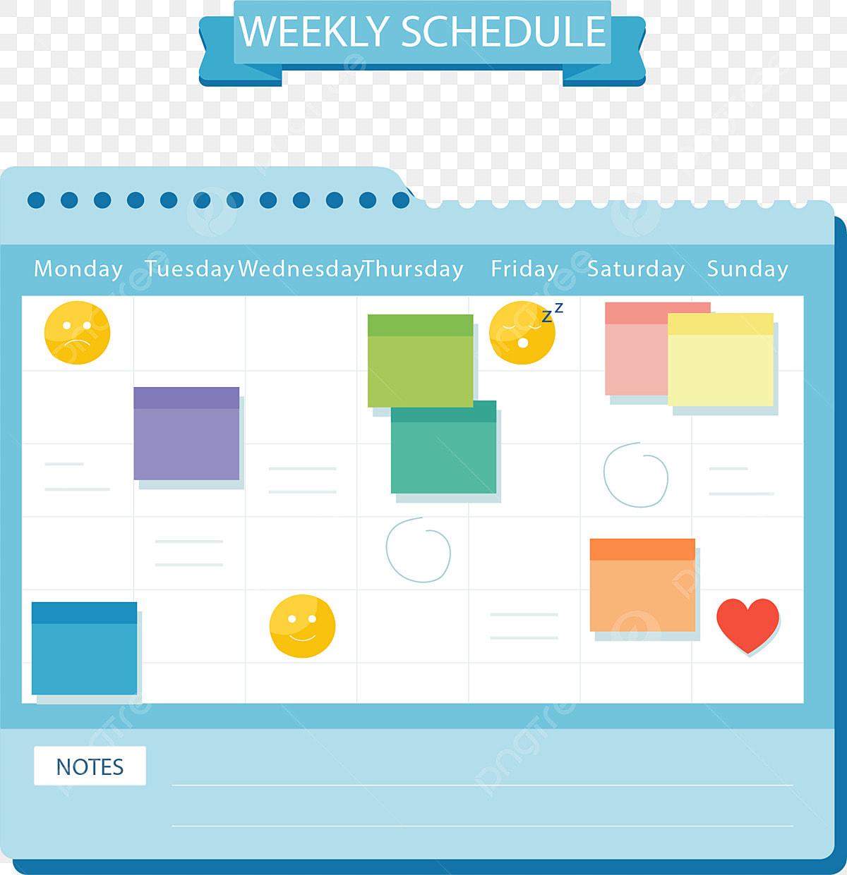 Stickers Plan De Travail plan de travail calendrier plan dune semaine autocollant de