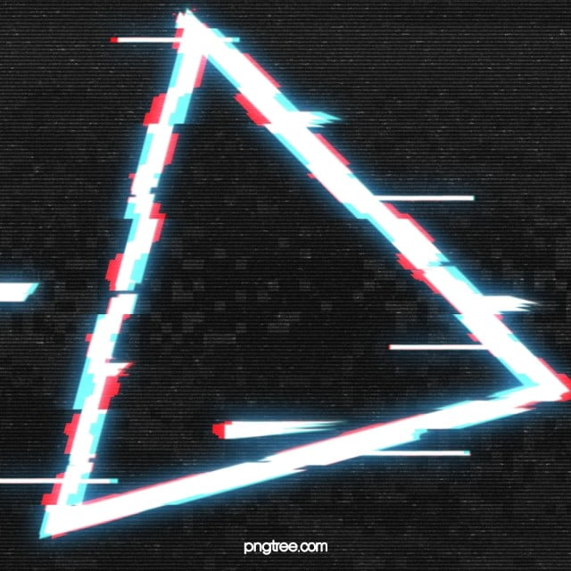 Neon Light Triangle Png