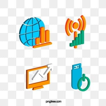 3d communication three dimensional high tech elements, Element, Stereoscopic, Network PNG and PSD