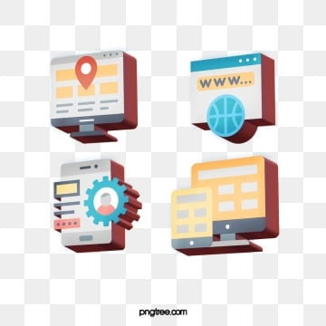 3D effect stereo communication technology icon design, Cartoon, Icon, Pattern PNG and PSD