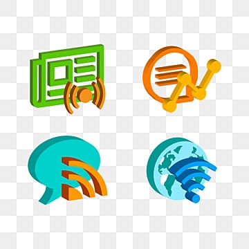 3d high tech stereo communication icon, 3d, Icon, Stereoscopic PNG and PSD