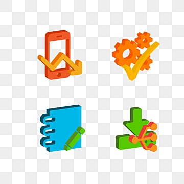 3D Style Communication High tech Elements Colorful Icon, 3d, Creative, Icon PNG and PSD