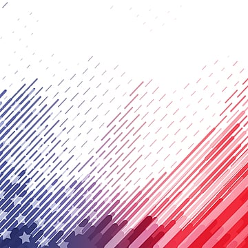 American Fantasy Line Star Gradient Border, Usa, National Flag, Flag PNG and PSD