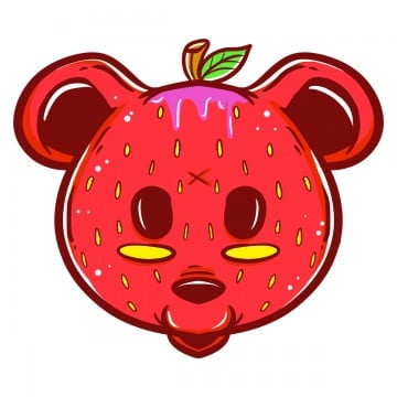 animal strawberry, Graff, Graffiti, Character Graffiti PNG and PSD