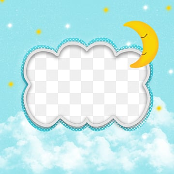 baby blue frame, Cloud, Baby, Stars PNG and PSD