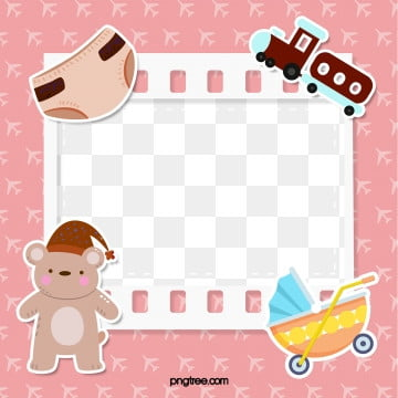 baby powder cartoon film baby photo frame, Element, Cartoon, Lovely PNG and PSD
