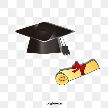 bachelors hat for graduation, Realism, Creative, Bachelor Cap PNG and PSD