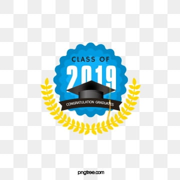 blue flower frame creative elements of graduation cap 2019, 2019, Leaf, Bachelor Cap PNG and PSD