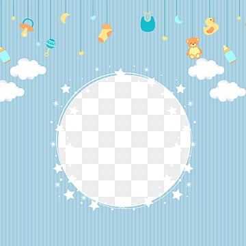 cartoon baby boy blue border, Lovely Border, Blue Border, Cartoon Star Border PNG and PSD