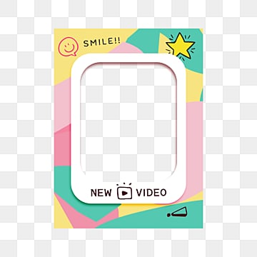 Cartoon Block Stitching Social Networking Site Hollow out Story Template, Geometric, Cartoon, Lovely PNG and PSD