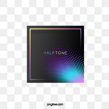 Color Halftone Simple Gradient Square Text Box, Color, Square, Label PNG and PSD