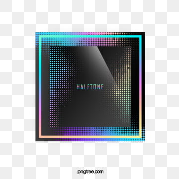 Color Laser Halftone Gradient Square Text Box, Color, Square, Label PNG and PSD