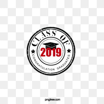 creative elements of circular graduation hat seal of 2019, 2019, Seal, Circular PNG and PSD