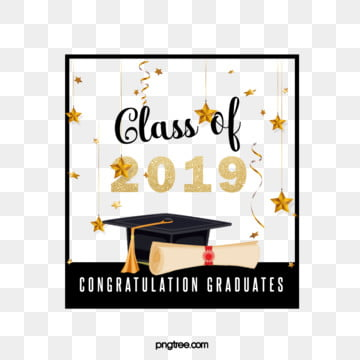 creative elements of square star graduation cap 2019, 2019, Bachelor Cap, Square Box PNG and PSD
