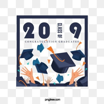 creative elements of the 2019 box graduation cap, 2019, Bachelor Cap, Hand PNG and PSD