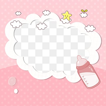 cute baby pink lace border, Cartoon Cloud, Lovely Border, Lace Bubble Border PNG and PSD