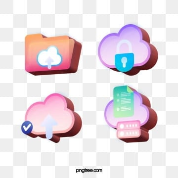 Design of Fashion Stereoscopic 3D Effect Technological Communication Icon, Download, Cloud Technology, Transmission PNG and PSD